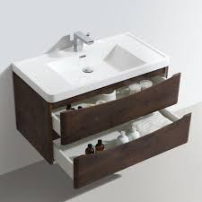 bali bathroom 900mm wall hung wood effect vanity unit u0026 1 tap hole
