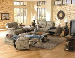 Catnapper Recliner Sofa Catnapper Voyager 3 Seat Lay Flat Reclining Sofa With Fold