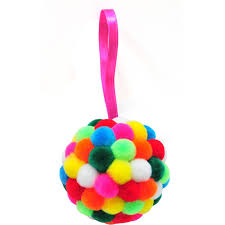 make your own pom pom bauble kit hobbycraft