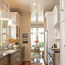 Modern Small Kitchens Designs by Modern Small And Narrow Kitchen Design With Black Cabinet White
