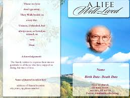 program booklets template funeral booklets template