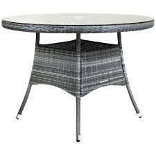 Rattan Kitchen Table by Charles Bentley 4 Seater Medium Rattan Dining Table Glass Top
