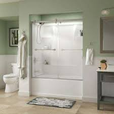 Shower Doors Bathtub Bypass Sliding Bathtub Doors Bathtubs The Home Depot