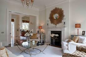mirrored coffee table living room traditional with gold mirror