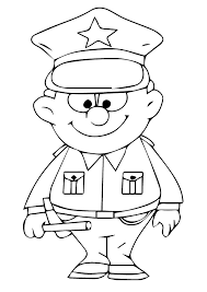 print coloring image police police community helpers pre