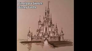 time lapse sketch of the disney castle youtube