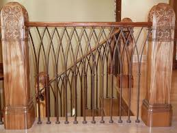 railings and handrail custom designed and forged of steel bronze