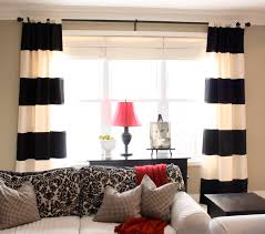 Beige Living Room by 5 Reasons Why Black And White Curtains Can Complete The Room