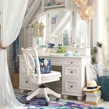pretty white antique vanity table units with awesome three panels