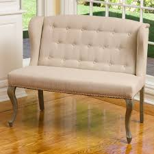 Loveseat Bench Dining Chair Home Meridian Banquette Bench Tuxedo Oatmeal Hayneedle
