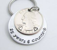 25 year anniversary gift ideas for mens personalized anniversary gift personalized keychain