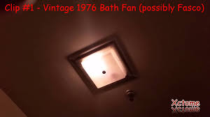 3 bath fans vintage 1976 fan light unit an older airking bath