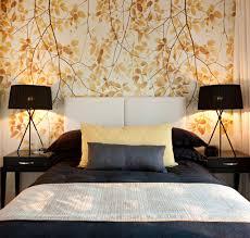 Wallpaper Design In Bedroom Bedroom Outstanding Bedroom Design With Black Wallpaper And
