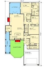 homes for narrow lots 15 plan 33117zr zero energy saver house narrow lot rambler plans