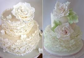 fondant frills u0026 garden flowers cake geek magazine