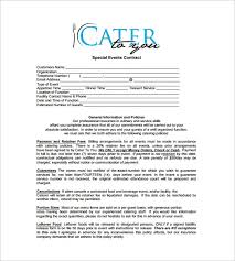 catering contract 9 catering contract samples 2017 latest free