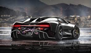 modified bugatti amazing digital rendering of bugatti chiron racecar circulate online