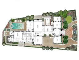 pen and ink watercolor rendering u2013 single family floor plan