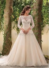 robe mariã e manche longue robe de mariée a ligne manche longue appliques avec manches