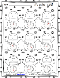 free winter printables for telling time firstgradefaculty com