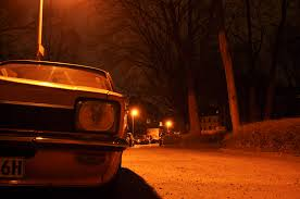 opel orange orange opel kadett at night cc0 photo