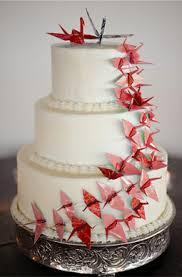 Origami Wedding Cake - crane cake origami wedding origami wedding in pomegranate