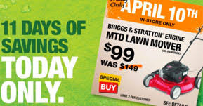 spring black friday home depot event home depot deals mtd lawn mower 99 today only coupons 4 utah