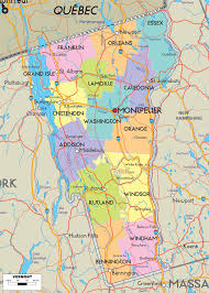 Google Map United States by Vermont Physical Map Usa