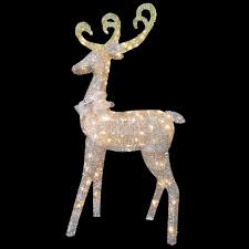 national tree company 60 in reindeer decoration with clear lights