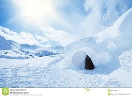 igloo and high snowdrift stock image image 33210041