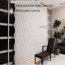 s wave vertical blinds shades curtain light filtering s pattern
