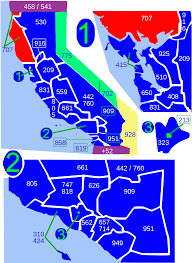 Zip Code Maps by Area Code 707 Wikipedia