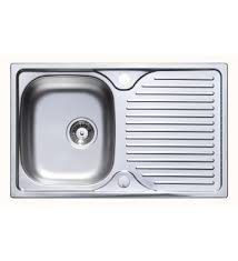 Kitchen Sink Stainless Steel by Parallel 800 X 500mm Single Bowl Compact Kitchen Sink Stainless