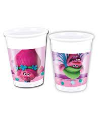 costo bicchieri di plastica 8 bicchieri di plastica trolls su vegaooparty negozio di
