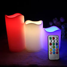 amazon com multiple color flameless candles remote electric