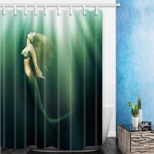 Polyester Shower Curtains 2018 180 180cm Quality Mermaid Shower Curtains Home Decoration