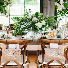 Wooden Wedding Chairs 5 Ways To Decorate Your Bride And Groom Wedding Chairs Brides