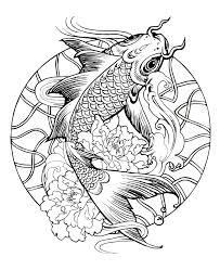 mandala fish carp simple mandalas 100 mandalas zen u0026 anti stress