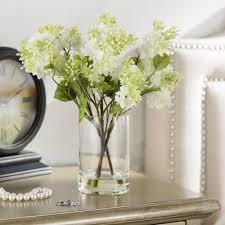 beachcrest home quincy lilac silk flower arrangement in vase
