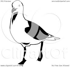 clipart illustration of a black and white sketch of a walking