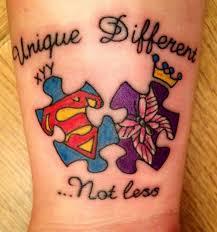 autism awareness tattoo autism puzzle tattoo autism tattoos tattoo