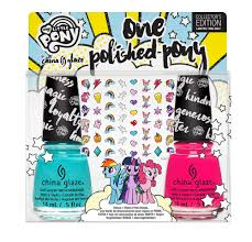 china glaze and my little pony are collaborating an a magical nail