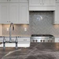 Kitchen Backdrop Stephanie Kraus Designs Llc White Cabinets Gray Backsplash Older