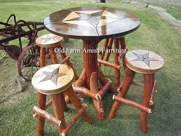 Rustic Bistro Table And Chairs Custom Made Rustic Log Drop Gorgeous Pub Table Sets Bistrond
