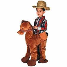 Cowboy Halloween Costumes Brown Horse Rider Toddler Halloween Costume Walmart