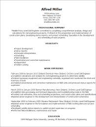 Best Civil Engineer Resume by Professional Entry Level Civil Engineer Resume Templates To