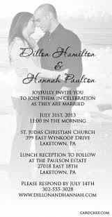 Photo Wedding Invitations Filigree Crest Photo Wedding Invitation Available In 40 Colors