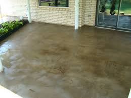 Stain Old Concrete Patio by Revitalize An Old Concrete Patio Direct Colors Inc