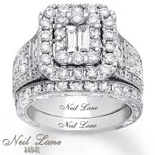 neil bridal set neil bridal set 3 1 4 ct tw diamonds 14k white gold