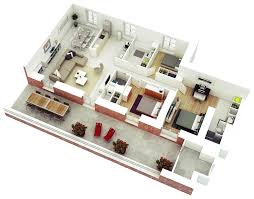 Design Home Plans by 25 More 3 Bedroom 3d Floor Plans